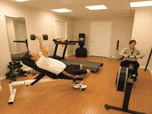 Pisos Imitación Madera en gimnasio
